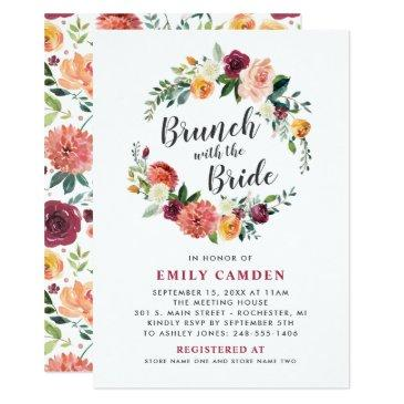 brunch with the bride | burgundy rustic romance