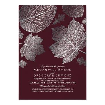 burgundy and silver leaves vintage fall
