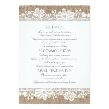 burlap and lace wedding information
