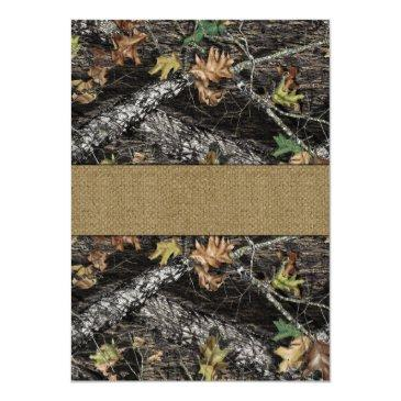 Small Burlap  Deer Hunting Camo Back View
