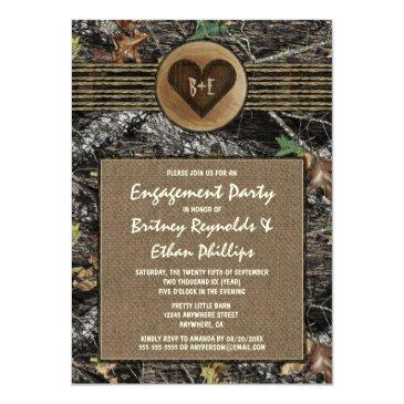 burlap  hunting camo engagement party