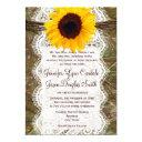 camo and lace sunflower wedding invitationss