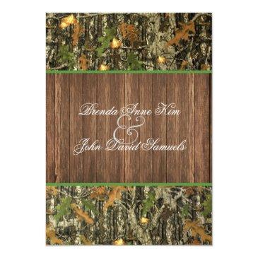 Small Camo Rustic Wedding Front View
