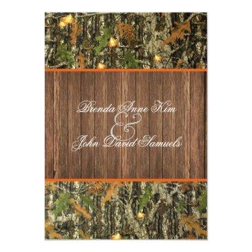 camo rustic wedding