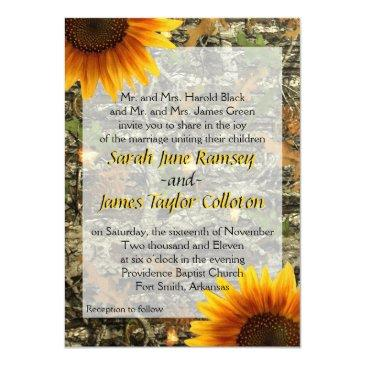 Small Camo & Sunflower Wedding Front View