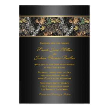 Small Camo Wedding Invitationss Front View