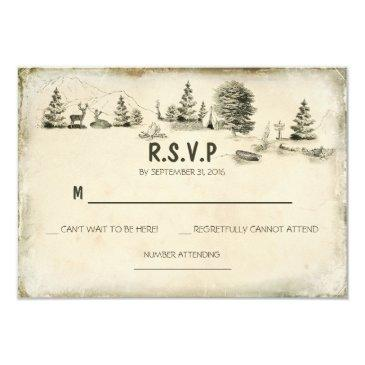 camping in the woods wedding rsvp