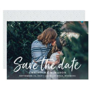 casual brush | photo save the date