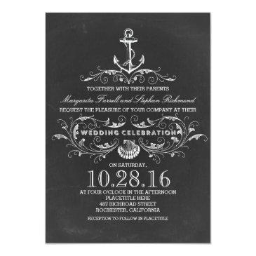 chalkboard anchor beach wedding