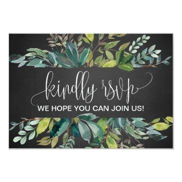 chalkboard foliage song request rsvp invitations