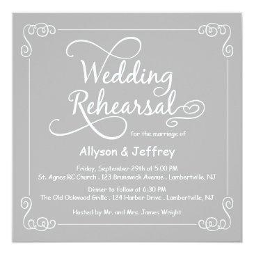 Small Chalkboard Gray Wedding Rehearsal Front View