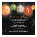 chic christmas ornaments fun holiday party invitations