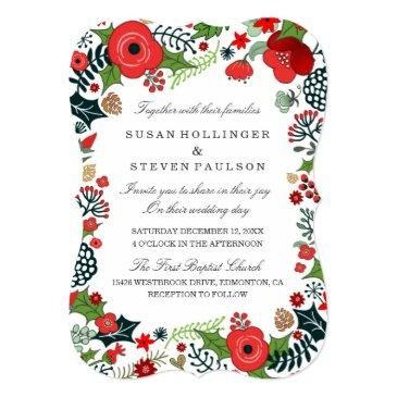 christmas floral wedding - together with families