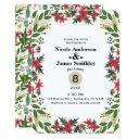 christmas holiday winter wedding floral rustic invitation