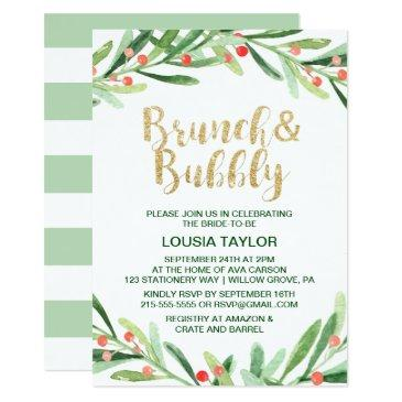 christmas holly wreath brunch & bubbly