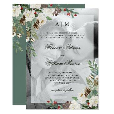 christmas wedding | photo  with overlay