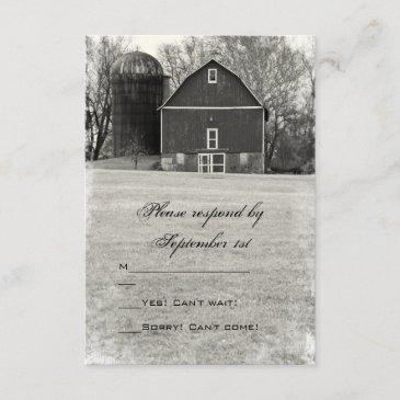 country barn wedding rsvp response