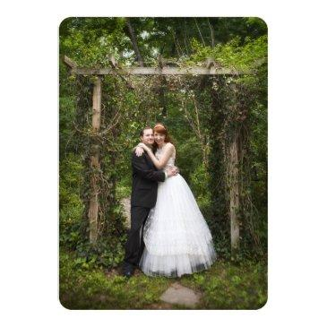 Small Country Burlap Wedding Photo Thank You Back View