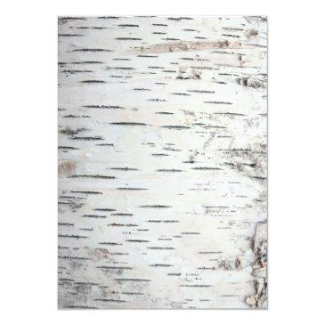Small Country Rustic Birch Tree Bark Back View