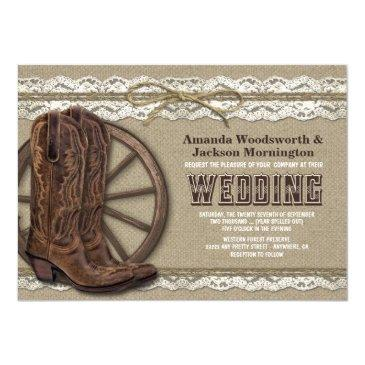 country rustic burlap and lace wedding