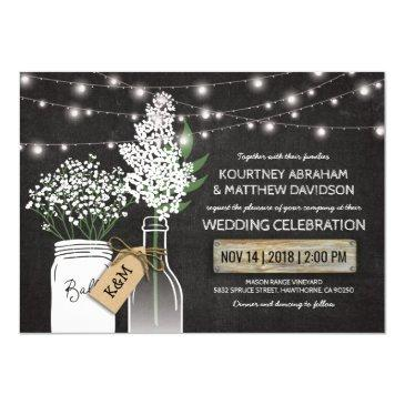 country rustic chalkboard wood wedding invitations