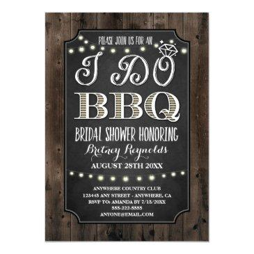country rustic i do bbq bridal shower