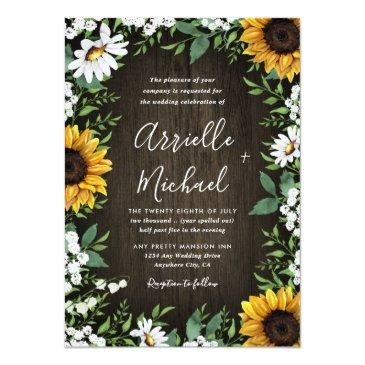 Small Country Rustic Sunflower Daisy Wedding Front View