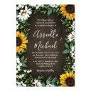 country rustic sunflower daisy wedding