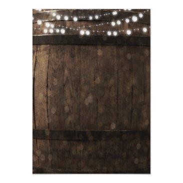 Small Country Rustic Wood Barrel Wedding Back View
