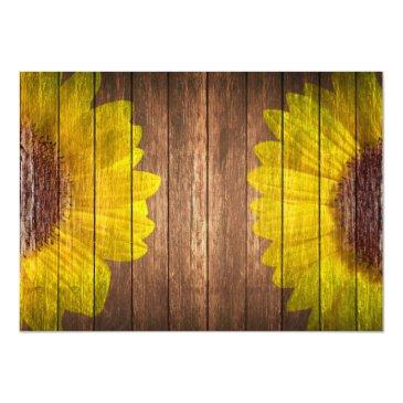 Small Country Sunflower Rustic Will You Be My Bridesmaid Back View