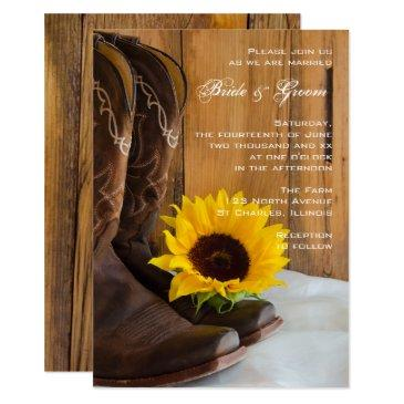 country sunflower western wedding