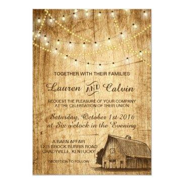 country wedding invitations with barn
