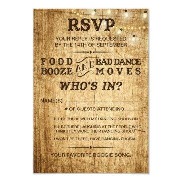 country wedding rsvp for rustic
