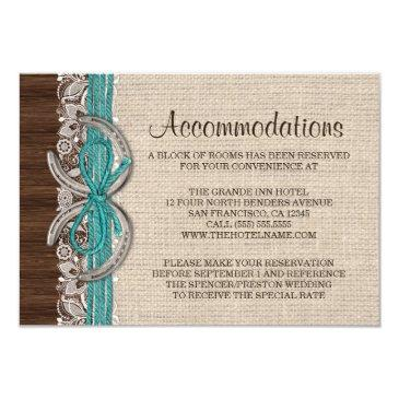 country western horseshoe invitation insert card