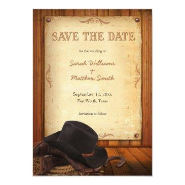 country western wedding save the date