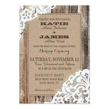 country western wood lace rustic