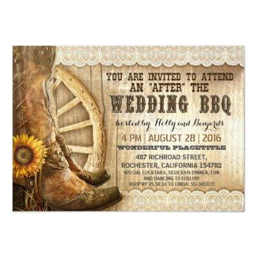 cowboy boots country western after wedding bbq