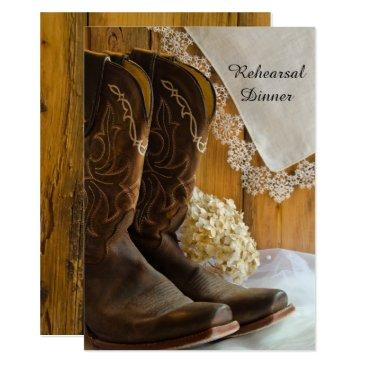 cowboy boots lace western wedding rehearsal dinner