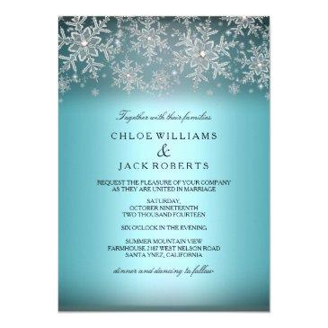 crystal snowflake blue winter wedding