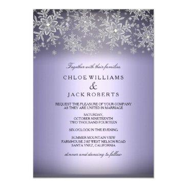crystal snowflake purple winter wedding
