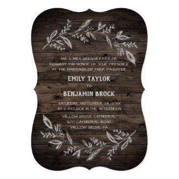 curved branches | wooden formal wedding invitation