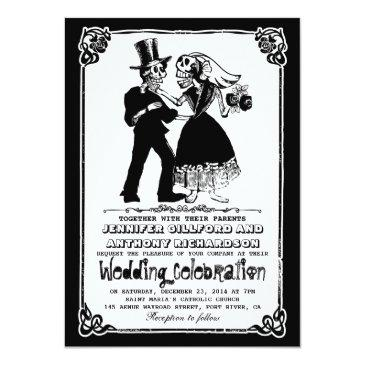 Small Dead Skeleton Couple Wedding Front View