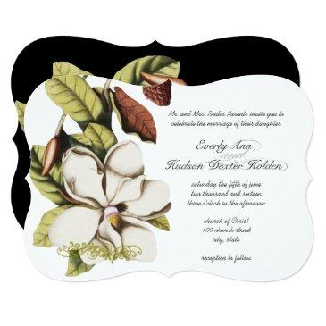 deep rose magnolia copper and green floral