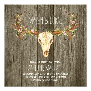 deer antler rustic wood southwestern wedding