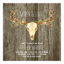 deer antler rustic wood southwestern wedding invitation