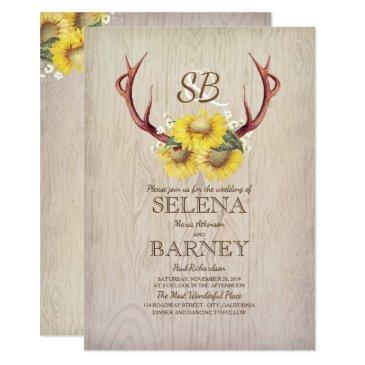 deer antlers and sunflowers rustic fall