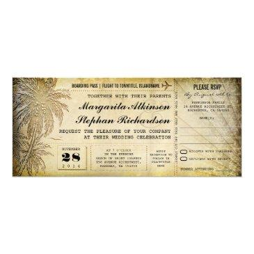 destination wedding tickets with rsvp