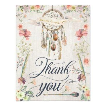 dream catcher boho floral painted thank you