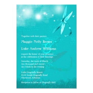 dreamy dragonfly turquoise wedding