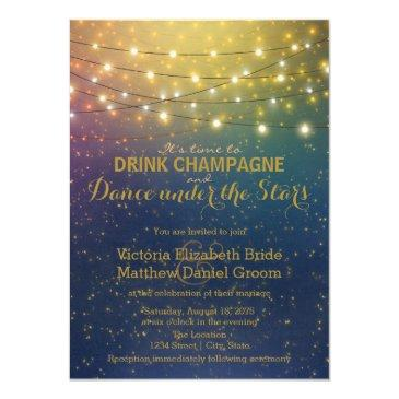 drink champagne dance under the stars wedding
